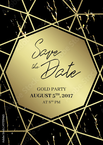 Save the date design template formal invite to follow black and save the date design template formal invite to follow black and gold marble background stopboris Images