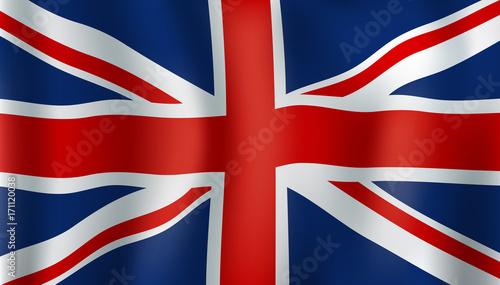 Grean Britain or Union Jack 3d flag Wallpaper Mural