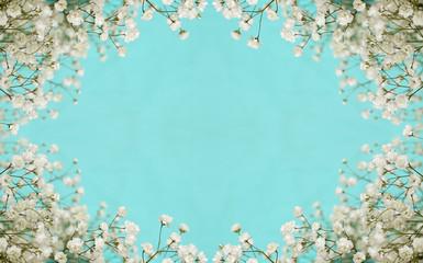 NaklejkaWhite flowers frame
