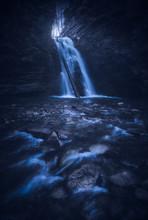 The Fool Moon Lights The Big Waterfall