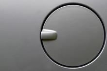 Close Up Of A Car Petrol Cap Cover.