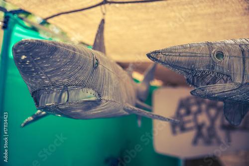 Obraz na dibondzie (fotoboard) Atak rekina