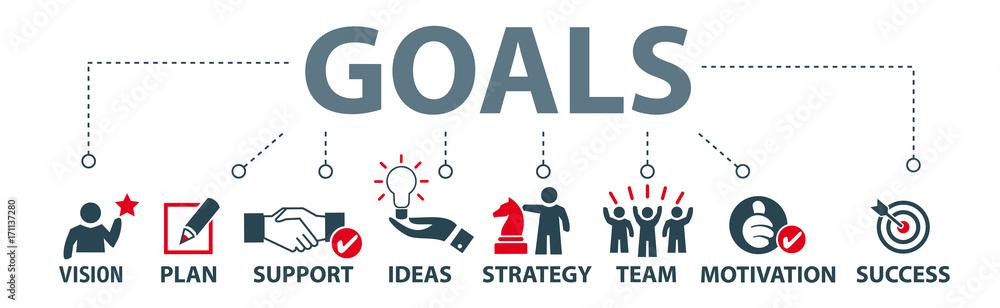 Fototapeta Banner goals setting