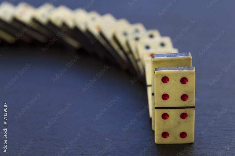 Fotografie, Obraz Old dominoes