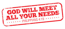 Bible Quote, Philippians 4:19