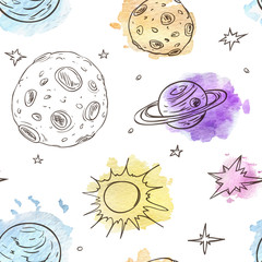 Tapeta Pattern with planets and stars