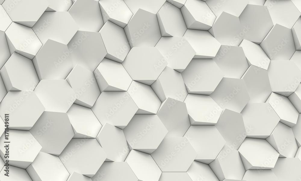 Fototapety, obrazy: hexagon geometric background