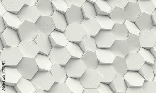 hexagon geometric background © tiero