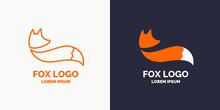 Vector Modern Fox Logo And Emblem.