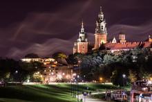 Krakow Wawel Castle At Night