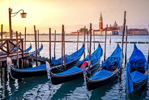 Foto op Canvas Gondolas gondole