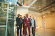 Business People Walking on a modern office
