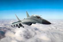 Military Fighter Jet Flies In ...