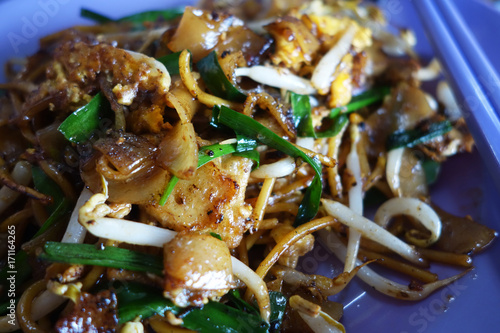 Valokuva  Penang Char Kway Teow Fried Wide Rice Noodles