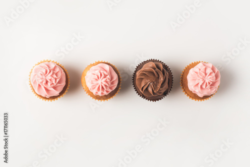 cupcakes with frosting Wallpaper Mural