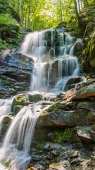 Waterfall Shipot. Ukraine. Zakarpattia.