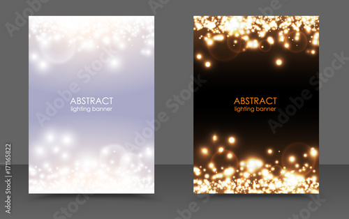 abstract sparkling christmas lights magic background set vector light and dark glow bright festive poster