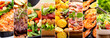 Leinwanddruck Bild - collage of food products
