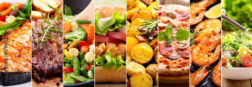 Foto op Aluminium Eten collage of food products
