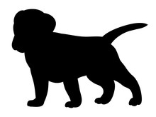 Vector, Isolated Silhouette Puppy