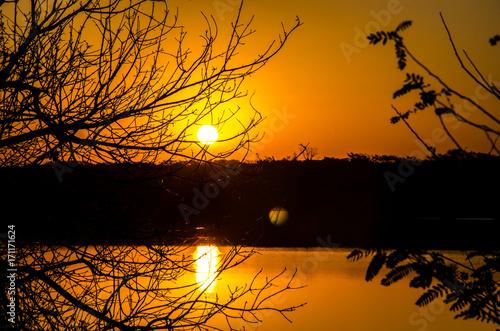 Lindo por do sol Canvas Print