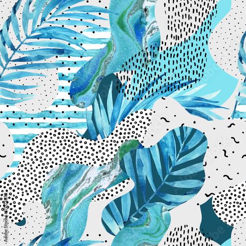 streszczenie-tlo-ksztalt-krzywej-z-kwiatow-doodle-elementy-minimalistyczne