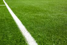 White Line On A Soccer Field G...