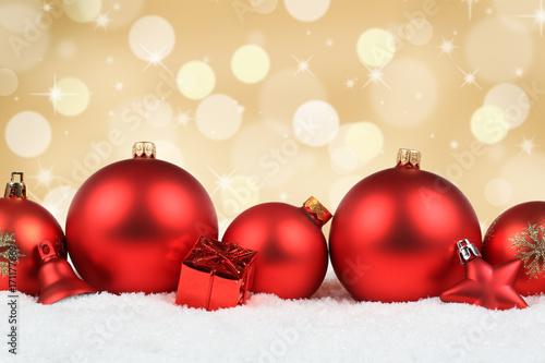 Weihnachtskugeln Rot Gold.Weihnachten Rot Weihnachtskugeln Gold Hintergrund Dekoration Winter