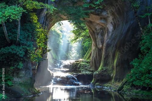 千葉県 濃溝の滝 Fototapet