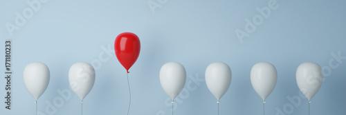 Fotomural Ballon Konzept zu Führung und Freiheit