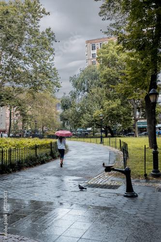 Keuken foto achterwand Rainy day in New York