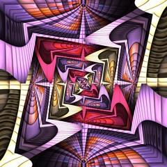 Fototapeta 3D render of puff pixels colorful pattern background tile