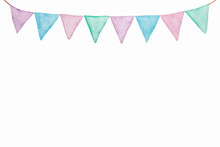 Colorful Party Bunting Flag Wa...