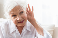 Old Lady Is Having Difficulty With Auditory Perception