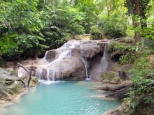 Erawan Falls In Kanchanaburi, ...