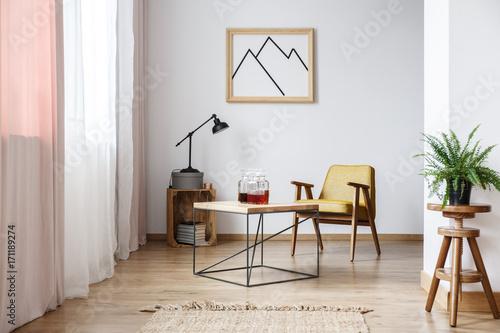 Fotografía  Rustic design of white interior