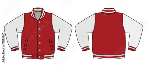 Illustration of varsity jacket