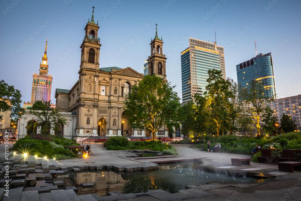 Fototapety, obrazy: Kościół Wszystkich Świętych na Placu Grzybowskim w Warszawie