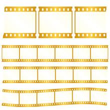 Vector Worn Torn Film Strips -...