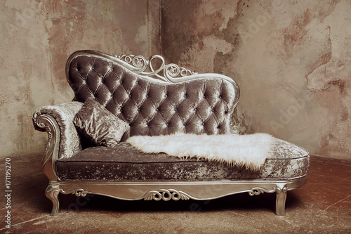 luxury baroque sofa Wallpaper Mural