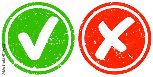 Obraz na plátne Retro Haken grün und Kreuz rot