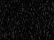 Vector Rain Texture On Black. ...