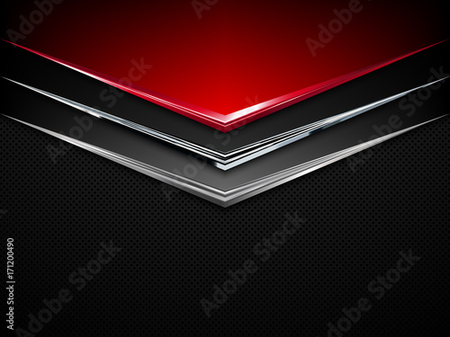 Fotografia, Obraz  Black and red metal background