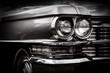 Close up detail of restored classic American car.