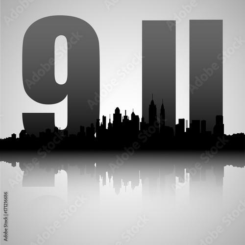 Fotografia  9.11 illustration