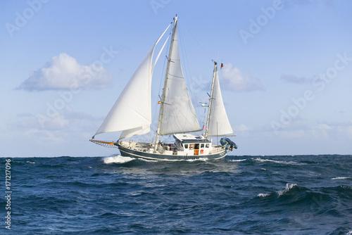 Canvas Prints Ship segel yacht in hohem Seegang auf dem Atlantik