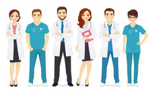 Doctors Team In Different Pose...