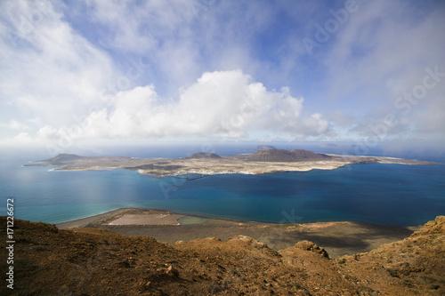 Printed kitchen splashbacks Canary Islands vulcanic Isle of La Graciosa, Canary Islands, Spain