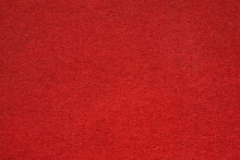 Red Felt Table Surface Extremal Close Up