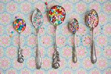 Vintage Spoons With Cupcake Sp...